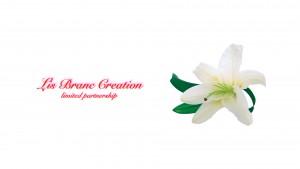 ロゴ入り白百合の花.001